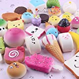 Toys : Pursuestar 10Pcs Random Kawaii Mini Soft Squishy Foods Panda Bread Bun Toasts Multi Donuts Phone Straps Charm Kids Toy Gift