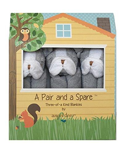 Angel Dear a Pair and a Spare 3 Pcs Blankets Gift Box, Grey BullDog by Angel Dear