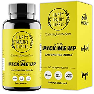 Gut Health Shop 51RWP9D5qPL._SS300_ Natural Energy Supplement – Happy Healthy Hippie Plant Based Caffeine Free Energy Pills for Metabolism, Mental Power…