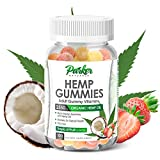 Organic Hemp Oil Gummies in Big 100 Count Bottle. 2550mg Multivitamin with Daily...