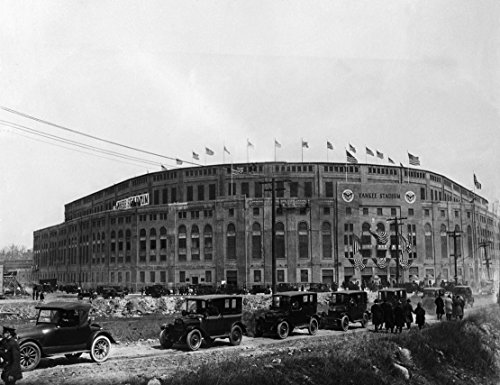 Black White Baseball Photos - Old Yankee Stadium 1923, 20