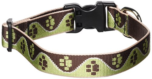 LupinePet 1-Inch Mud Puppy 12-20-Inch Adjustable Dog Collar for Medium and Large Dogs