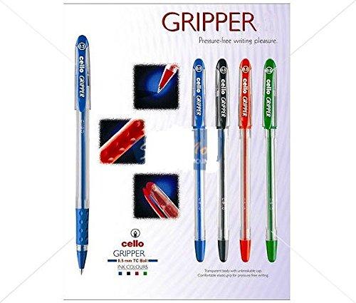 CELLO Original Pack mit Stift 50 Kugelschreibern mit Griff für mehr Unterstützung Blau Farbe Pen für Büro//Schule schreiben