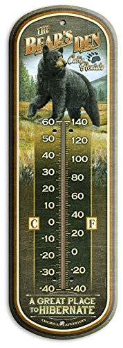 American Expedition Tin Thermometer - Bear's Den Cabin - Tin Thermometer Bear