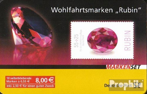 Gemstone Stamp - FRD (FR.Germany) MH87 (Complete.Issue.) 2012 Gemstones (Stamps for Collectors) Minerals/Jewelry