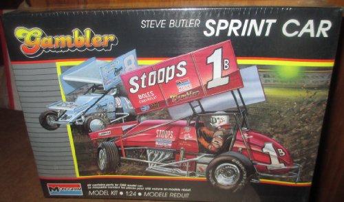 #2778 Monogram World of Outlaws Gambler Steve Butler Sprint Car 1/24 Scale Plastic Model Kit,Needs ()