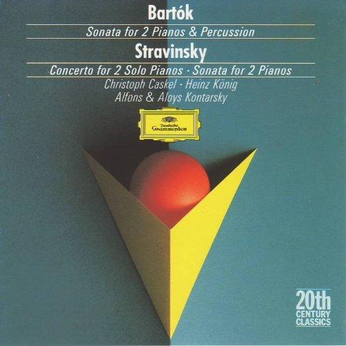 Béla Bartók: Sonata for 2 Pianos & Percussion (1937) / Igor Stravinsky: Concerto for 2 Solo Pianos (1935) / Sonata for 2 Pianos (1943/44) - Alfons & Aloys Kontarsky (Bela Bartok Sonata For Two Pianos And Percussion)