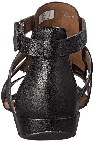 ... Ecco Sko Kvinners Buljong Ii Gladiator Kjole Sandal Sort ...