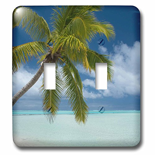 3dRose (LSP_228581_2 Double Toggle Switch Cook, Aitutaki, One Foot Island, Tropical White Sand Beach