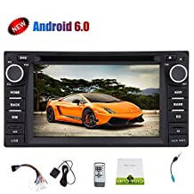 Android6.0 Mashmallow Double Din Car Stereo for Corolla 6.2inch Capcity 5 Point Full HD Touch Screen 1080P Video Play Car Monitor DVD Player Mirorr Link Steering Wheel Support WIFI/3G/4G/USB/SD/OBD2