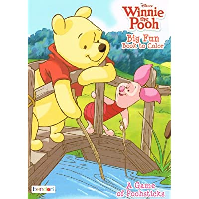 2pk Disney's Winnie the Pooh Coloring Book 96 Page - Assorted: Office Products
