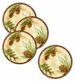 Set of 4 Merritt Melamine Pine Ridge Round Salad Plate 8