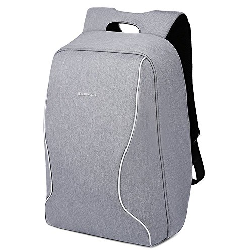 Kopack FBA_K585 Anti Theft Laptop Backpack Shockproof Travel Bag Lightweight ScanSmart TSA Friendly Water Resistant Grey
