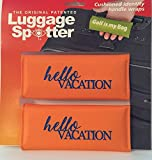 Luggage Spotter BUY ONE GET ONE FREE (Orange) HELLO VACATION Luggage Locator/Handle Grip/Luggage Grip/Travel Bag Tag/Luggage Handle Wrap (4 PACK) – GREAT GIFT!