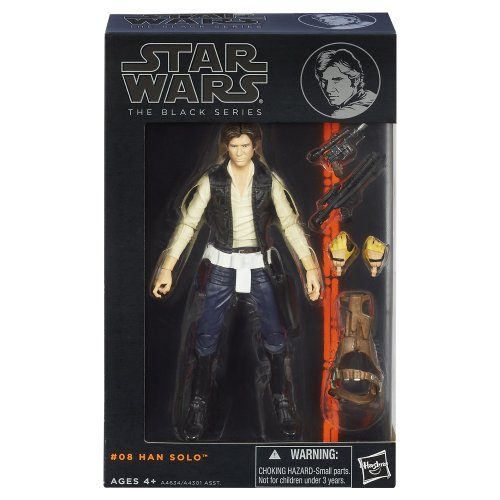 """""""Star Wars"""" [Hasbro Action Figure] 6 inches """"black"""" # 08 Han Solo (japan import)"""