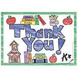 """Top Notch Teacher Products TOP5104 Thank You Postcards, 4.1"""" Wide, 6"""" Length, 0.4"""" Height (30 per Package)"""
