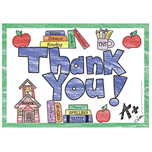 Top Notch Teacher Products TOP5104 Thank You Postcards, 4.1 Wide, 6 Length, 0.4 Height (30 per Package)