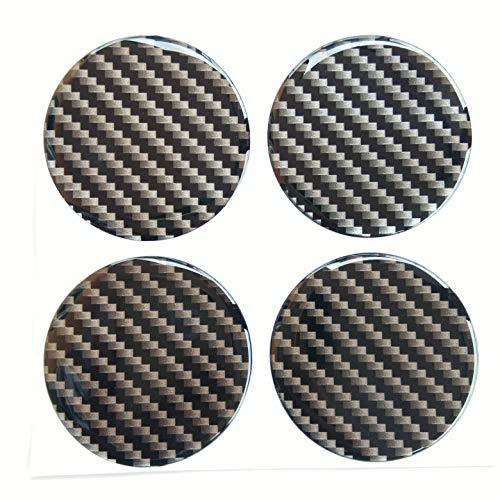 65 mm Domed Wheel Cap Center Plain Kevlar Carbon Fiber 2.5