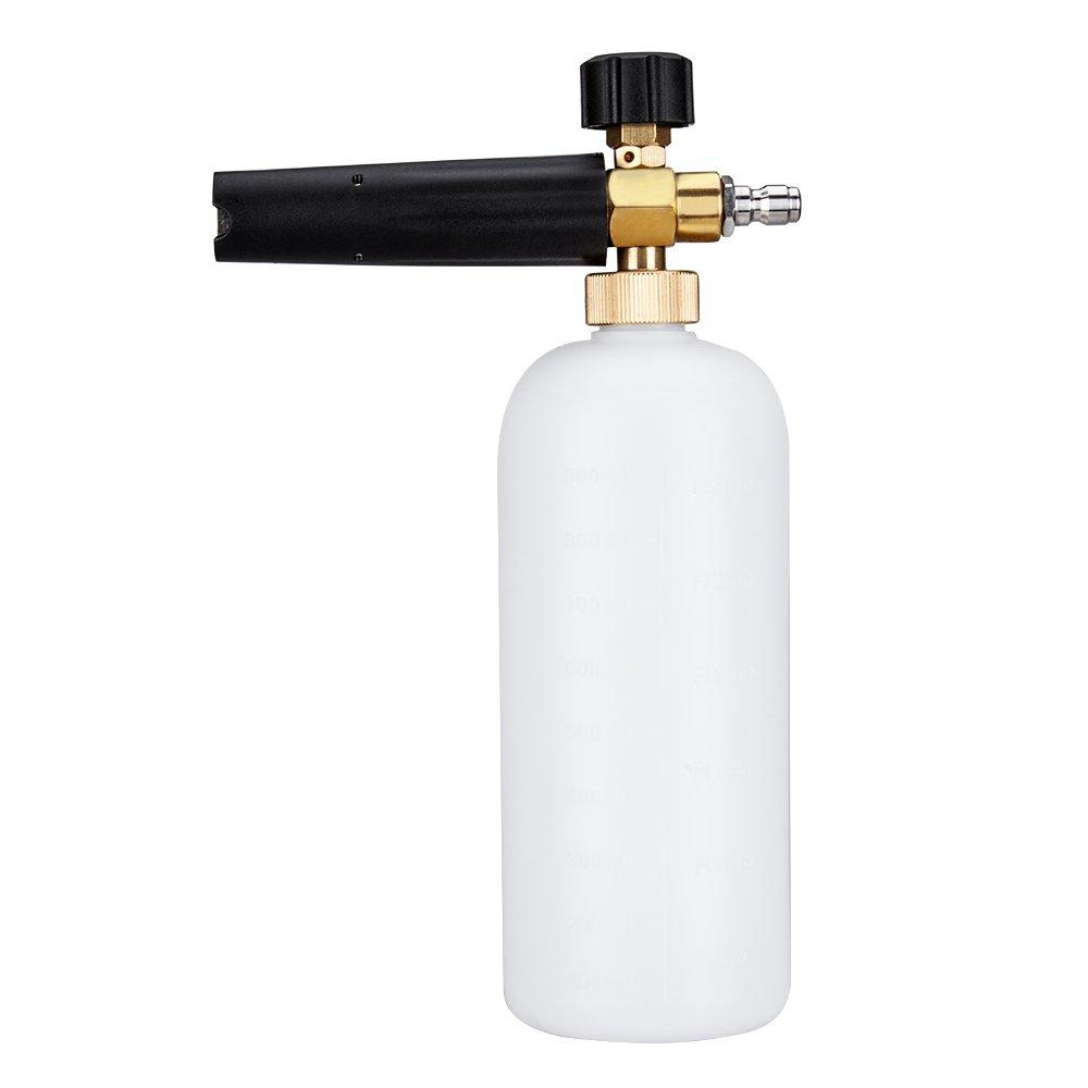 Santu Pressure Adjustable Foam Cannon Washer 1 Liter Bottle Snow Foam Lance With 1/4 Quick Connector Foam Blaster for Pressure Washer Gun