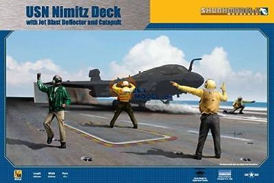 Skunkmodels 1/48 USN Carrier Deck with Jet Blast Defector 4 figures SW-48020