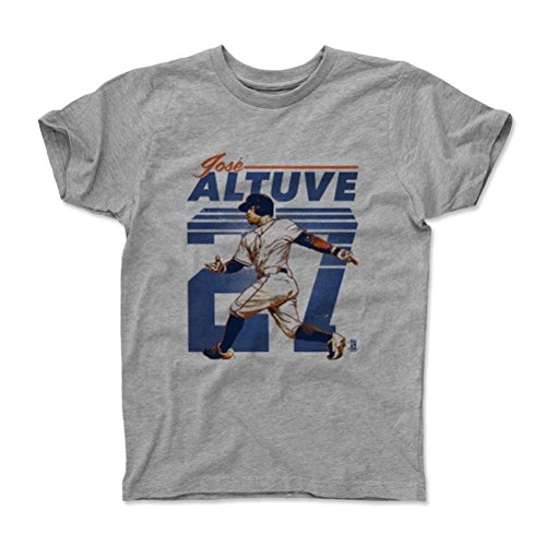 500 LEVEL's Jose Altuve Kids Shirt Youth Small (6-7Y) Heather Gray - Houston Baseball Fan Apparel - Jose Altuve Retro O