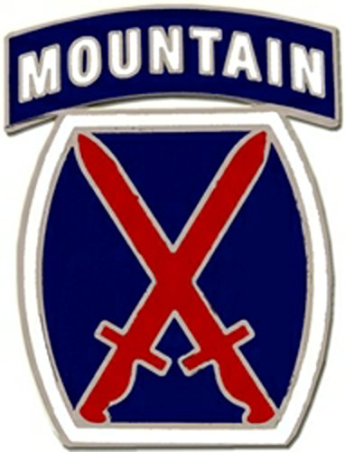 10th Mountain Division Lapel Pin or Hat Pin