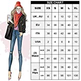 Highdas Women's High Waist Three Button Pants PU Leather Pants Look Jeans Slim Fit Trousers Size 8