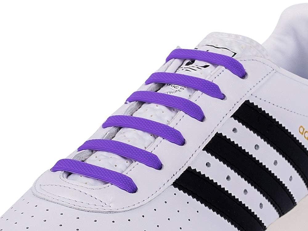 RECKNEY para zapatillas Cordones el/ásticos de silicona que no se atan para ni/ños o adultos