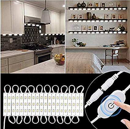 MEILLY 10ft 60leds LED Under Cabinet Lighting Kit, Dimmable Under Counter  Lights Closet Kitchen Counter