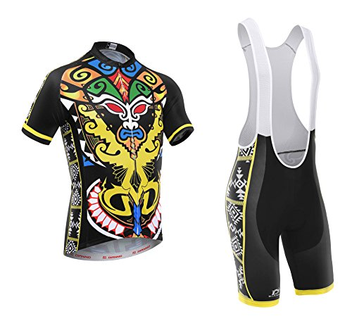 Totem ''club 2.0'' Breathable Cycling Short Sleeve Jersey And Bib Short(size:3XL) by Dianno