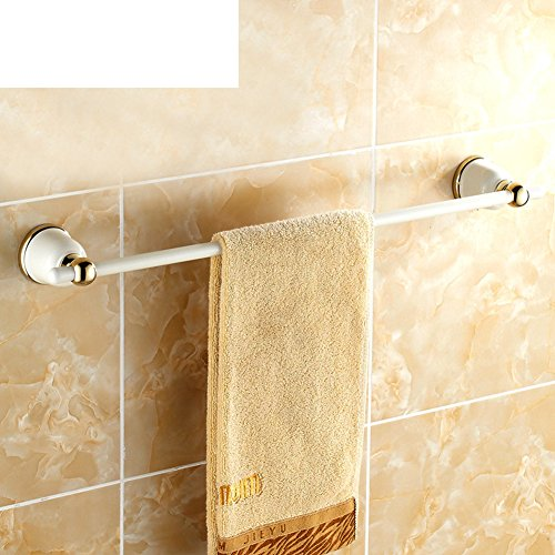 50%OFF Baked white Towel rack/white Towel Bar/Towel hanging for bathroom/European garden antique Towel Bar-A