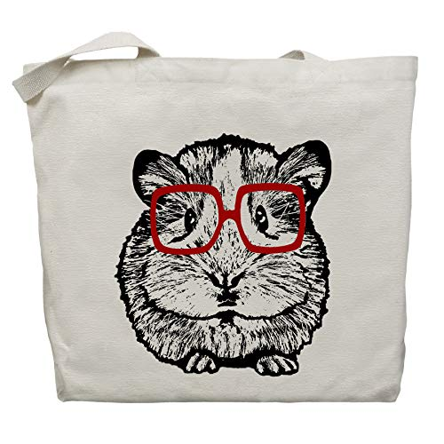 Basil the Hipster Hamster Tote Bag by Pet Studio Art