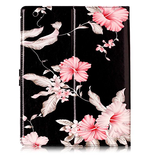 iPad 2/3/4 Case, Dteck(TM) Slim Flip PU Leather Wallet Case with Card Slots/Money Pouch Kickstand iPad Case Magnetic Closure Shell Full Body Protective Case Cover for Apple iPad 2 3 4,Pink Floral by Dteck (Image #3)