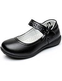 Maxu Girl Uniform Leather Mary Jane Flat Shoes(Toddler/Little Kid/Big Kid)