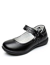 Chiximaxu Maxu Girl Uniform Leather Mary Jane Flat Shoes(Toddler/Little Kid/Big Kid)