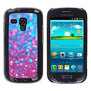 Best-Diy LASTONE cell phone case cover / Slim Protector case cover case cover for Samsung Galaxy S3 MINI NOT REGULAR! 2ySBe1SA5xb I8190 / Red Purple Sparkling Bling