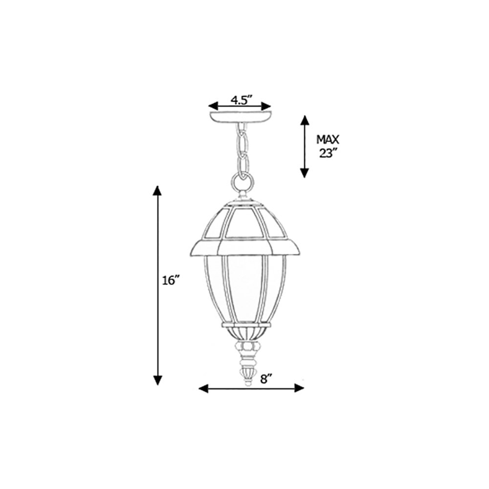Nuevo Collection Exterior Outdoor Lantern Light with Clear Glass Moving Clearance Pendant Lantern APLIQ055