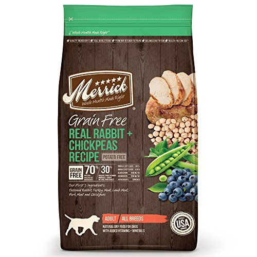 Merrick Grain Free Real Rabbit + Chickpeas Recipe Dry Dog Fo