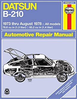 datsun b210 1973 78 haynes manuals haynes amazon com books rh amazon com Datsun 720 datsun 210 manual transmission