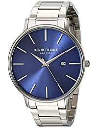 Kenneth Cole New York Men's 'Classic' Quartz Stainless Steel Dress Watch, Color:Silver-Toned (Model: KC15059003)