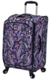 London Fog Soho 21″ Expandable Spinner, Pink Navy Paisley Review