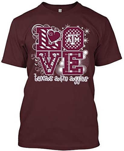 - NCAA Love T-shirts - Alabama, Arkansas, Auburn, Clemson, Florida, FSU, Georgia, Kentucky, LSU, Mississippi St., Ole Miss, South Carolina, Tennessee, Texas A&M (Texas A&M Aggies, X-Large)