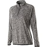 Holloway Dry Excel Ladies Force Full Zip Jacket (X-Small, Carbon Heather/Black)