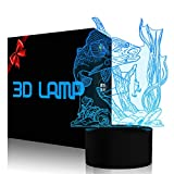 3D Fishing Lamp Illusion Night Light LED Touch Fish