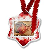 Christmas Ornament Virgin Mary, Maria, Catholic religion, red - Neonblond