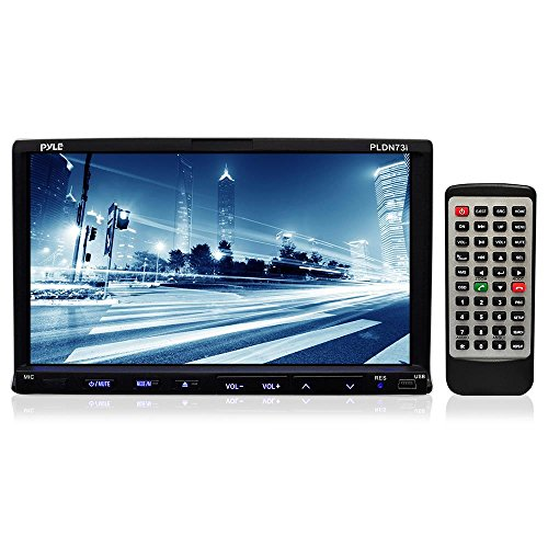 Pyle PLDN73I 7-Inch Double-DIN TFT Touchscreen DVD/VCD/CD/MP3/MP4/CD-R/USB/SD-MMC Card Slot/AM/FM/iPod Connector