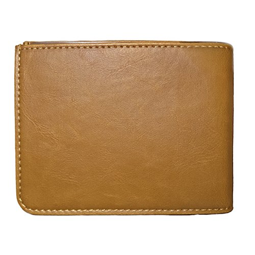 Napal Swiss Top Genuine Leather Amazing RFID Security Credit Card Holder Magic Slim Back Pocket Wallet for Men or Women (Crazy Horse Yellow)
