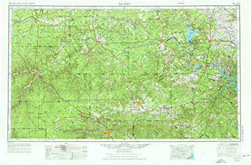 Llano TX topo map, 1:250000 scale, 1 X 2 Degree, Historical, 1956, updated 1976, 22.2 x 33.6 IN - - Tx Caves Bee