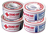 Johnson & Johnson BAND-AID Waterproof Tape (4-Pack) 1-inch x 10 yards - Heavy Duty