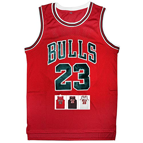 Antsport 23 Basketball Jersey,Legend Mens Retro Athletics Jersey S-XXXL (Red, L)